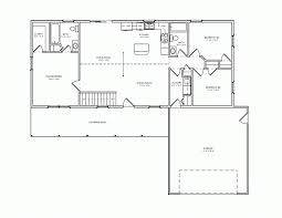Split Floor Plan Cottage Plan Simple Rambler House Plans With Three Bedrooms Small