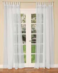 White Tab Top Curtains White Tab Top Voile Panel Uk Delivery Terrys Fabrics
