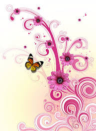 flowers butterfly pattern background image for free