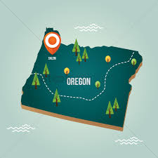 Oregon City Map by Oregon Map With Capital City Vector Image 1536719 Stockunlimited