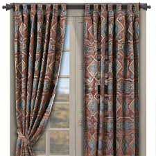 wrangler western drapes with coordinating valance cabin place