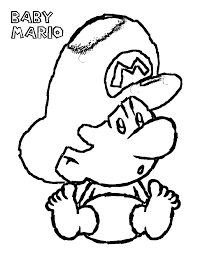 baby mario bros coloring pages kids coloring