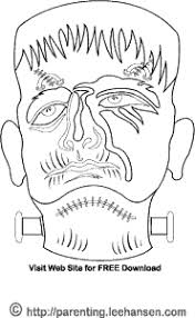 halloween coloring pages frankenstein monster mask coloring craft