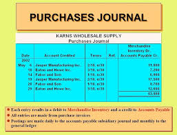 purchase journal definition with example