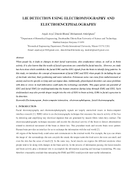 lie detection using electromyography and electroencephalography