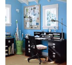 appealing blue wall lighting with wooden rack as storage added