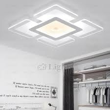 Led Kitchen Light Fixture Led Kitchen Lights Ceiling Square Shaped Throughout Lighting Ideas