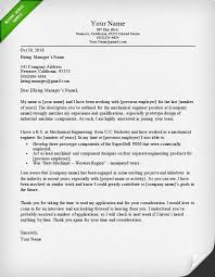 exle of cover letter for resume engineering cover letter templates resume genius