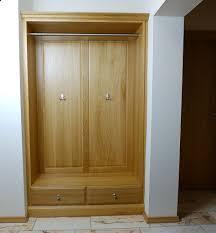Schlafzimmer Schrank Kirschbaum Massiv Einbau Garderobe Für Nische Eiche Buche Oder Kirschbaum Massiv