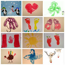calendar of 12 handprint and footprint crafts