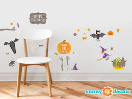 happy halloween fabric wall decals holiday wall decor sunny decals