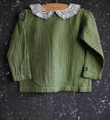 vintage blouse bonjour diary vintage blouse with embroidered collar