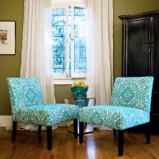 Overstock Living Room Chairs Angelo Home Bradstreet Damask Turquoise Blue Armless Chairs Set