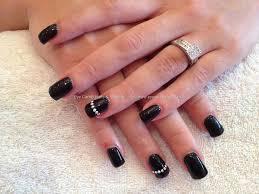 eye candy nails u0026 training acrylic overlay with black gel polish