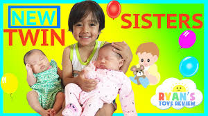 twin girls reveal ryan toysreview newborn baby sisters new family