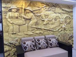 customised 3d mural wallpaper installed at a client location in
