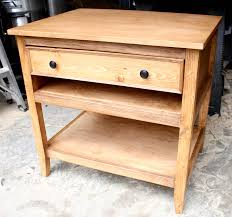How To Make End Tables With Drawers by Diy Bedside Table With Drawer And Shelf Free Plans