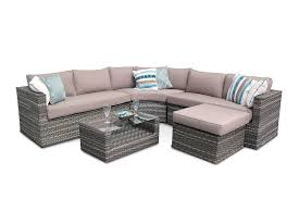 look brantwood corner modular rattan sofa set patio outdoor