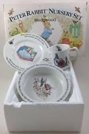 wedgwood rabbit nursery set 3 nursery set rabbit beatrix potter wedgwood mug