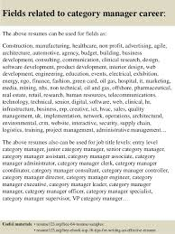 successful resume templates top 8 category manager resume samples