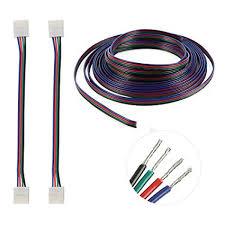 nexlux led light strip amazon com nexlux led 5050 rgb strip light connector 4 conductor