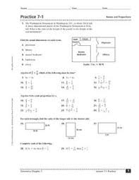 practice 7 1 ratios and proportions 10th 12th grade worksheet