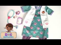 doc mcstuffins pet vet scrubs dress up set from just play youtube