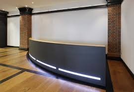 Black Reception Desk Black Stone Reception Desk With Led Light