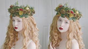 making a christmas themed pine cone crown youtube
