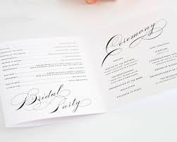 Sample Wedding Program Sample Wedding Programs Layout Bliss Pinterest Wedding