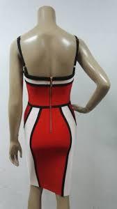 bodycon dress 2017 strapless spaghetti strap red summer dresses