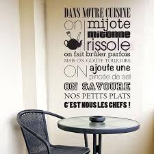 stickers muraux cuisine citation autocollants français citation cuisine cuisine règles vinyle