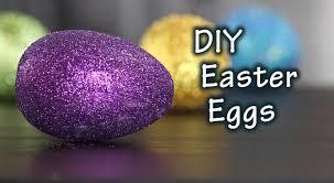 diy tutorial how to make easter eggs with glitter youtube
