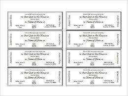 free printable event tickets template event ticket template