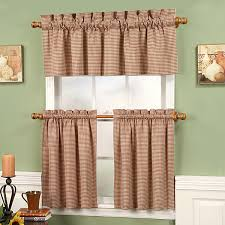 Brown Gingham Curtains Gingham Fleetwood Tier Curtains