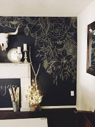 faux wallpaper gold paint marker mural gracelaced