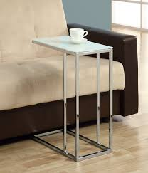 Silver Sofa Table Amazonsmile Coaster 900250 Contemporary Snack Table With Glass