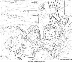 jesus calms storm coloring coloring