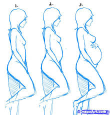 Pregnant Female Anatomy Diagram How To Draw Pregnant Women Step By Step Figures People Free