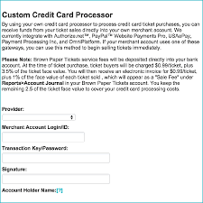 Sample Of Authorization Letter For Receiving Credit Card How To Add Your Own Credit Card Processor Help Brown Paper Tickets