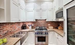 brick backsplash in kitchen brick kitchen backsplash home design ideas