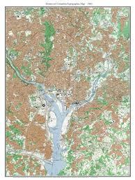 Map Washington Dc Old Topo Maps Of Washington D C