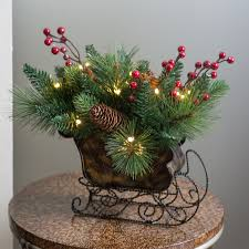 10 in needle pine cone sleigh centerpiece from hayneedle