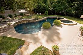 Backyard Pool Landscaping Ideas by Triyae Com U003d Backyard Landscape Designs With Pool Various Design