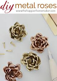 Homemade Flowers Diy Metal Roses Easy Tutorial To Make These Cute Metal Flowers