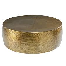 gold hammered aluminium coffee table paloma garden furniture