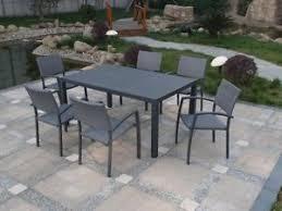 tavoli da giardino rattan set tavolo tavoli con 6 sedie da esterno in alluminio e rattan