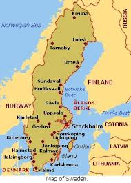 map of sweden travel guide map of sweden cities pictures