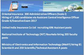 Recruiting Assistant Find The List Of More Than Five Government Or Psu Organizations