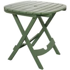 adams manufacturing quik fold sage patio cafe table 8550 01 3700